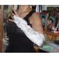 Satin Brautkleid fingerless Oper lange Handschuhe