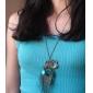 femei pene de păun diamant de epocă colier
