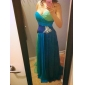 Prom/Military Ball/Formal Evening Dress - Blue/Green Ombre Sheath/Column Strapless/Sweetheart Floor-length Chiffon