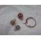magnífico circonio cúbico de oro 18k tres bolas de moda anillo