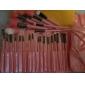 24 ensembles de brosses Poil Synthétique / Pinceau en Poils de Poney / Pinceau en Nylon Visage / Lèvre / Œil