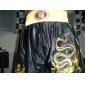 coup de pied professionnel broderie short dragon d'or de la boxe et noir (taille moyenne)