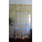Två paneler Rustik Blommig/Botanisk Gul Living Room Polyester Sheer gardiner Shades