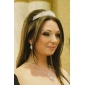 목걸이와 귀걸이 등의 번쩍이는 체코 라인 스톤 합금 도금 결혼식 신부의 보석 세트,