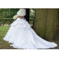 Vestito da sposa, senza maniche, con strascico da cappella, in raso