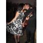 ts vintagetryck swing klänning med underkjol