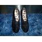 estilete de la moda del ante del talón botines zapatos de fiesta y de noche de las mujeres (más colores)