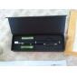 Pennformet 5mW 532nm grønn laserpeker med batteri (2xAAA)