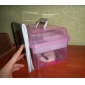 Nail Art Makeup Cosmetic Container Box Case (Random Color)