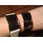 Paire de Montres LED Elégantes, Bracelet en Cuir PU - Blanche et Noire