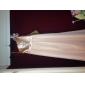 Floor-length Chiffon/Stretch Satin Junior Bridesmaid Dress - Sage Sheath/Column/A-line One Shoulder