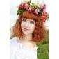 prachtige kunstmatige satijnen bloem bruiloft bruids headwreath / hoofddeksel