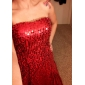 Formal Evening/Military Ball Dress - Gold Plus Sizes Sheath/Column Strapless Floor-length Sequined