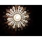 moderna hängande ljus i cirkel presenterade lampskärm