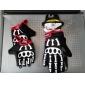 spakct mode utformade andas nylon fästtejp full finger handskar-skelett