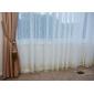 Deux Panneaux Le traitement de fenêtre Néoclassique , Solide Polyester Matériel Rideaux opaques Décoration d'intérieur For Fenêtre