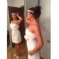 웨딩 드레스 - 아이보리(색상은 모니터에 따라 다를 수 있음) 시스/컬럼 숏/미니 스윗하트 레이스 플러스 사이즈