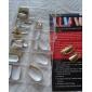 75pcs Metal Shiny Silver And Golden Acrylic UV Gel False Nail Art Tips