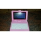7 inch PU Leather Protective Tablet Case with Build-in Keyboard and Stand