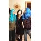 Cosplay Peruker Final Fantasy Lulu Svart Lång Animé/ Videospel Cosplay Peruker 100 CM Värmebeständigt Fiber Kvinna