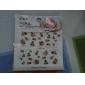 1PCS Water Transfer Printing Nail Stickers NO.9 (blandade färger)