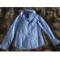 Män skjorta krage Kontrast Färg Långärmad shirt