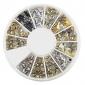 yemannvyou®240pcs nail art guld- blandad nit former akryl strass (slumpvis färg)