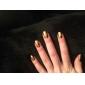 couverture complète classiques autocollants pour les ongles d'or