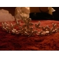 Fine Alloy With Rhinestone And Pearl Flower Bridal Tiara