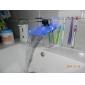 lavabo del baño grifo sola manija de cambio de color LED grifo cascada (cromado)