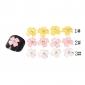 yemannvyou®20pcs 3d décorations doigt de résine à ongles Wintersweet sertie de diamants (couleurs assorties)
