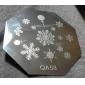 1PCS Nail Art Stamping Timbre Image de tasse Plate QA série n ° 2 (couleurs assorties)