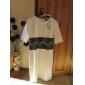 TS Lace Waist Decor Jersey Sheath Dress
