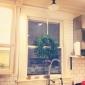 enkelt håndtag massiv messing foråret køkkenarmatur med to tude (krom finish)
