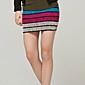 Candy Colore elastico maglia a righe pacchetto del pannello esterno dell'anca (Vita: 58-79cm Anca :90-104 Lunghezza: 56cm)