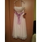 A-line/Princess Plus Sizes Wedding Dress - Ivory Tea-length Strapless Chiffon