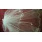 Véus de Noiva Três Camadas Véu Ponta dos Dedos Corte da borda 47,24 cm (120cm) Tule Branco MarfimLinha-A, Vestido de Baile, Princesa,