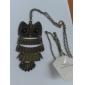 Collier mignon de hibou de forme vintage J & G