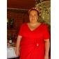 Bridesmaid Dress Floor Length Chiffon V Neck Sheath Column Dress With Side Draping