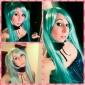 Vocaloid Hatsune Miku 2 Ponytails Cosplay Wig