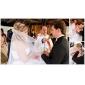 Véus de Noiva Uma Camada Véu Catedral Borda Recortada 102,36 em (260 centímetros) Tule Branco / MarfimLinha-A, Vestido de Baile,