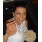 Trumpet/Mermaid Plus Sizes Wedding Dress - Ivory Sweep/Brush Train Halter Lace