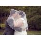 bruiloft sluiers one-tier tule elleboog bruiloft sluiers met lint rand (meer kleuren beschikbaar)