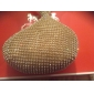 Gorgeous Satin med Rhinestone Peach Shape Evening Handbag / Clutches (Flere farver)