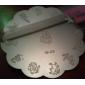 예술 금속 스탬핑 이미지 W 시리즈 귀여운 (분류 된 색깔)를 네일