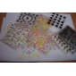 50PCS 3D Design Nail Art Stickers Tips (Mixed willekeurige kleuren)