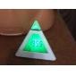 pyramide klokke og farverige ur-hvid (3 * aaa)