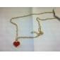 Dame Coliere cu Pandativ Aliaj Heart Shape La modă Alb Negru Rosu Bijuterii Petrecere 1 buc