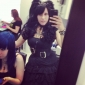 Negru Curly Pigtail 50cm Classic Lolita Peruca