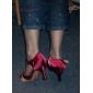 Satin Ankle Strap personnalisés Femmes latine / danse de salon des chaussures avec boucle